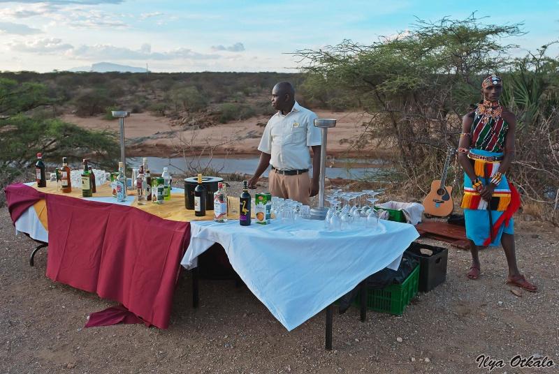 Кенийский ужин на закате
