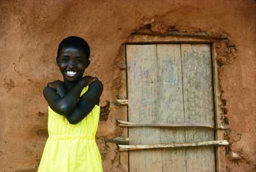 Жительница деревни Кисии