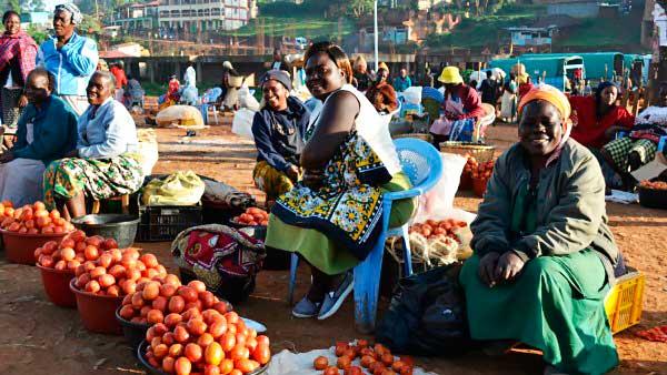 Рынок Кисии. Женщины
