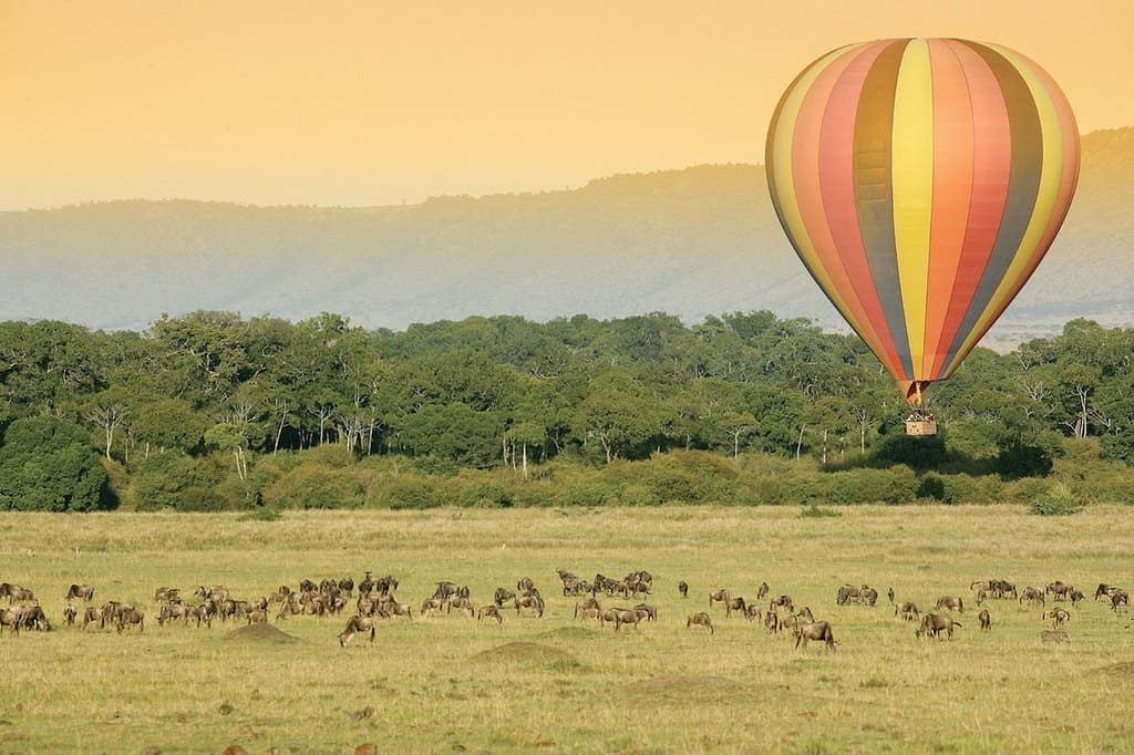 Сафари на воздушном шаре, Кения