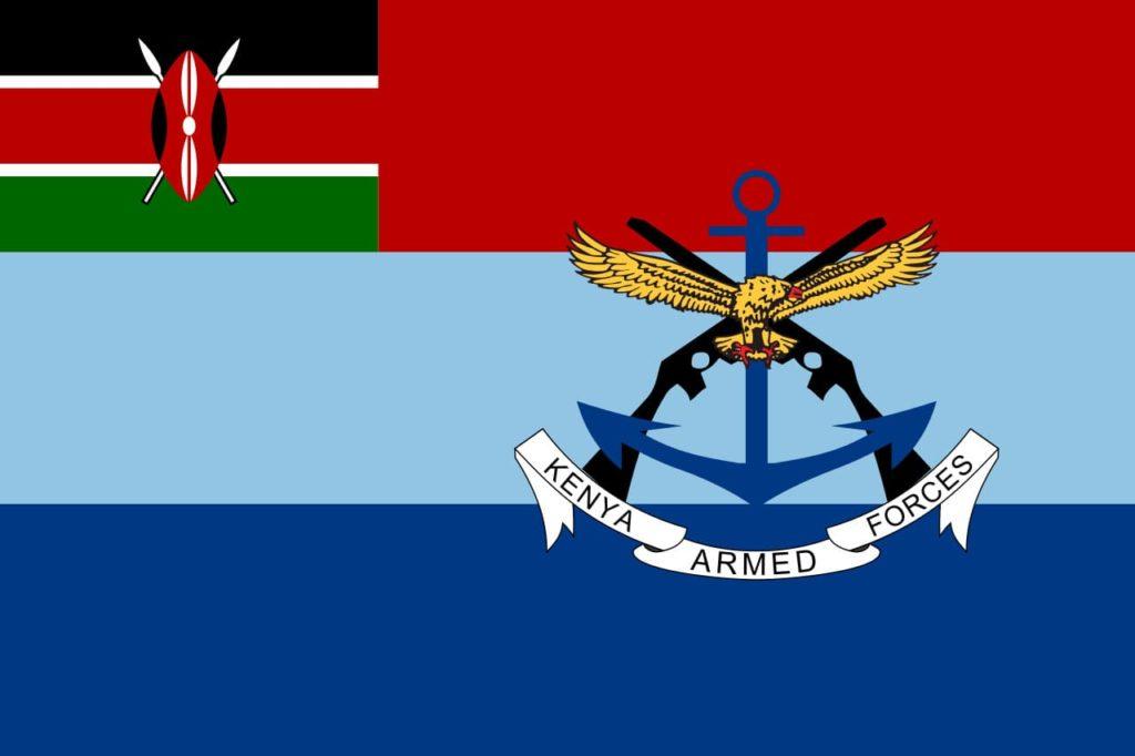 Флаг вооруженных сил Кении
