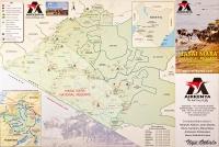 <p>Кения. План-схема заповедника Масаи Мара с изображением аэропортов, откуда летает Airkenya.</p>