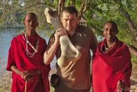 <p>Кения, Лойк Тсаво Кемп. С костью слона</p>
