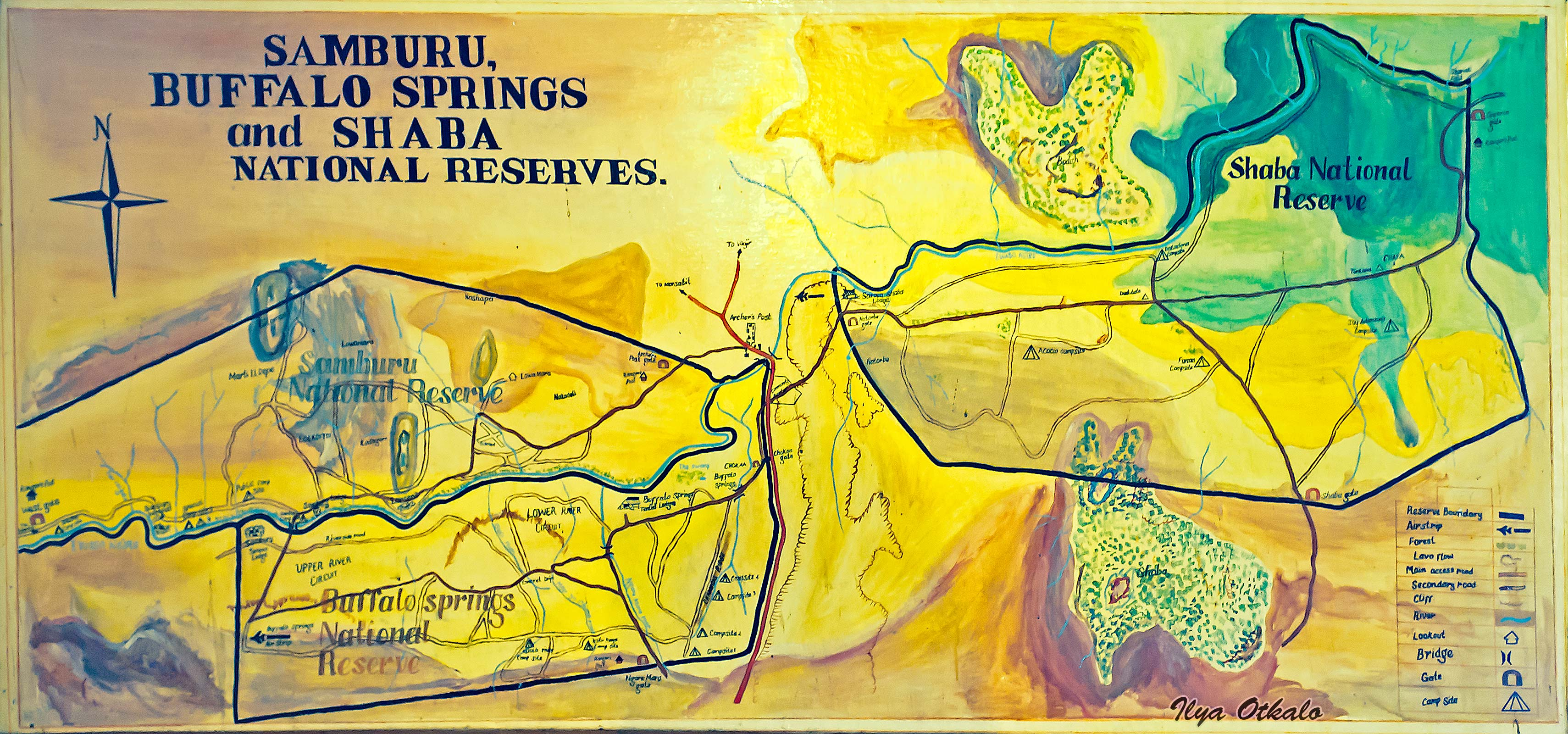 План парка Самбуру