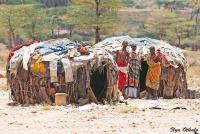 <p>Кения, племя Самбуру. Типичные жилища.</p>